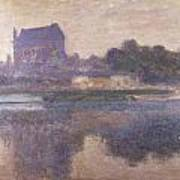 Vernon Church In Fog Art Print by Claude Monet