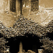 Verona Courtyard II In Sepia Art Print