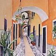 Via Grimaldi Saleri Art Print by Regina Ammerman