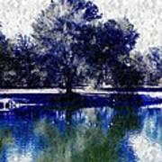 Vibrant Blue Art Print