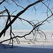 Victoria Beach Winter Art Print