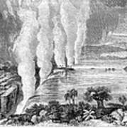 Victoria Falls, C1860 Art Print