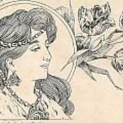 Victorian Lady - 1 Art Print