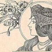 Victorian Lady - 2 Art Print