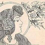 Victorian Lady - 3 Art Print