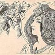 Victorian Lady - 4 Art Print