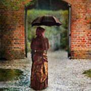Victorian Lady By Brick Archway Art Print