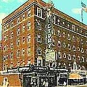 Victory Theatre And Hotel Sonntag In Evansville In 1920 Art Print by Dwight Goss