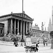 Vienna Austria - Parliament Building - C 1926 Art Print