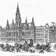 Vienna: City Hall, 1889 Art Print