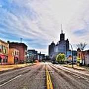 View Down Broadway Into Downtown Buffalo Ny Art Print