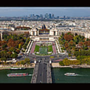 View From The Second  Floor Of Eiffel Tower Art Print by Anna A. Krømcke