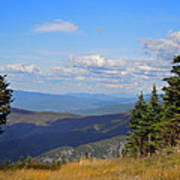 View From Top Of Cannon Mountain Art Print