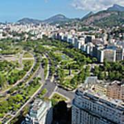 View Of Aterro Do Flamengo Art Print by Ruy Barbosa Pinto
