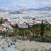 View Of Athens From Acropolis Art Print