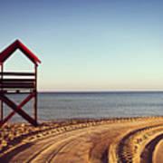 View Of Beach Art Print