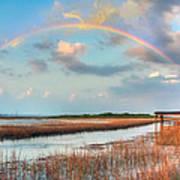 View Of Charleston Rainbow  Art Print by Jenny Ellen Photography
