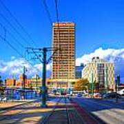 View Of Downtown Buffalo From The Tracks Art Print
