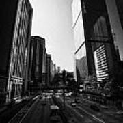 View Of Gloucester Road Wan Chai Skyscrapers Including Revenue Immigration Tower Building Hong Kong Art Print by Joe Fox
