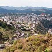 View Of Katra Township While On The Pilgrimage To The Vaishno Devi Shrine In Kashmir In India Art Print