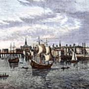 View Of London, 1550 Art Print
