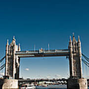 View Of London Bridge From The Thames Art Print