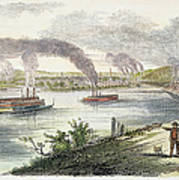 View Of Pittsburgh, 1853 Art Print by Granger