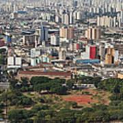 View Of Sao Paulo Skyline Art Print