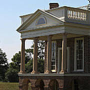 View Of South Portico At Poplar Forest Art Print