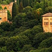View Of The Alhambra In Spain Art Print