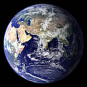 View Of The Earth From Space Showing Print by Stocktrek Images