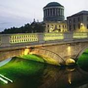 View Of The Four Courts And The Liffey Art Print