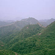 View Of The Great Wall Of China Art Print