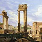 View Of The Roman Forum Art Print