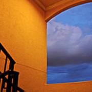 View Through A Stairwell Art Print