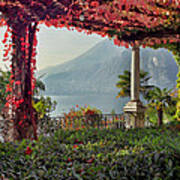 Villa Cipressi Pergola On Lake Como I Art Print