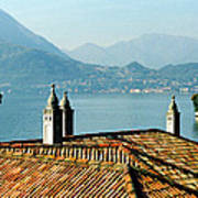 Villa Monastero Rooftop And Lake Como Art Print