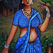 Village Girl Art Print by Johnson Moya