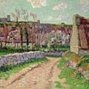 Village In Clohars Art Print