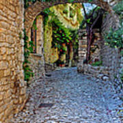 Village Lane Provence France Art Print