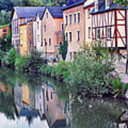 Village Reflections In Luxembourg I Art Print by Greg Matchick