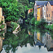 Village Reflections In Luxembourg II Art Print