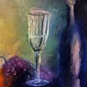 Vino Art Print by Michelle Calkins