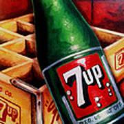 Vintage 7up Bottle Art Print by Terry J Marks Sr