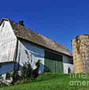 Vintage American Barn And Silo 1 Of 2 Art Print