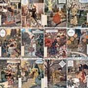 Vintage Art Nouveau French Calendar Art Art Print