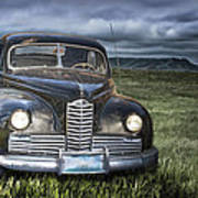 Vintage Auto On The Prairie Art Print