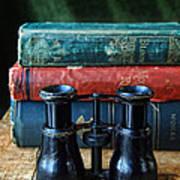 Vintage Binoculars And Books Art Print