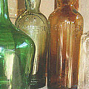 Vintage Bottles Art Print by Georgia Fowler