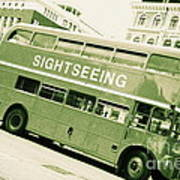 Vintage Bus Art Print by Sophie Vigneault